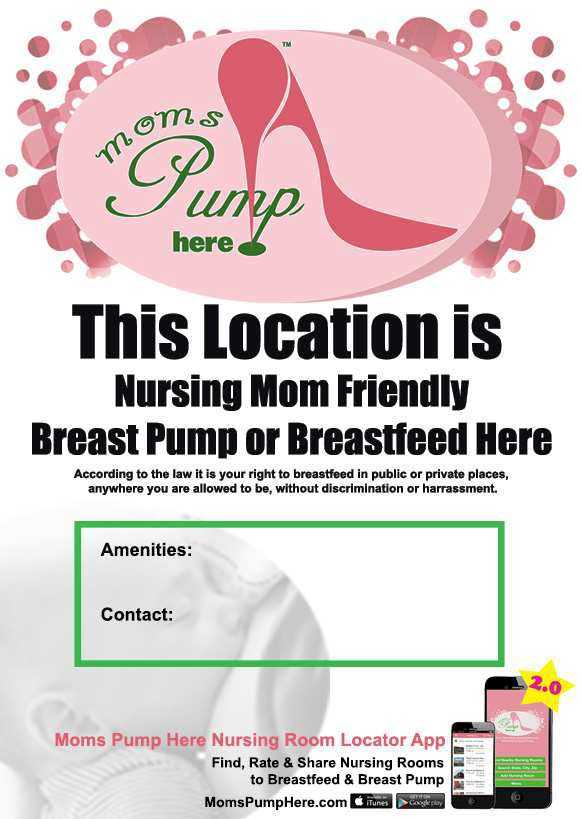 MomsPumpHere LocationFlier