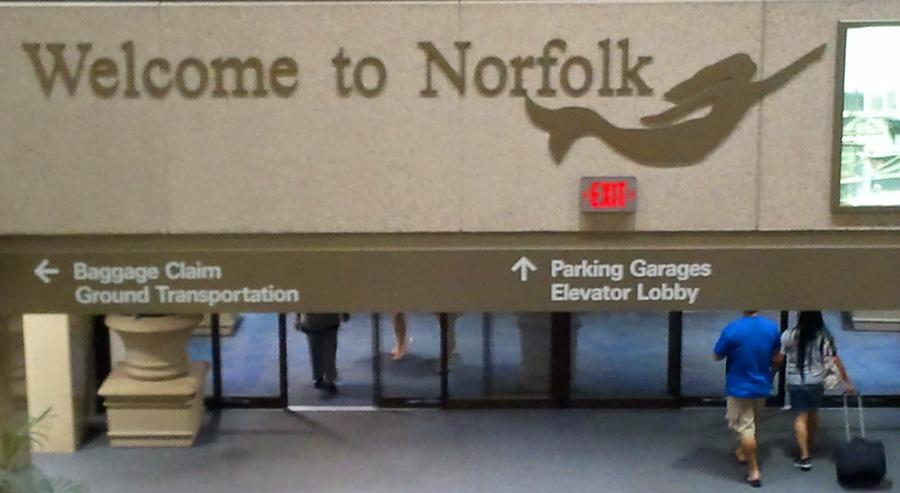 Photo of Norfolk International Airport entrance