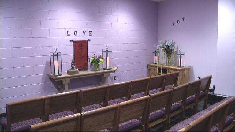 Photo of Barclays Center meditation room