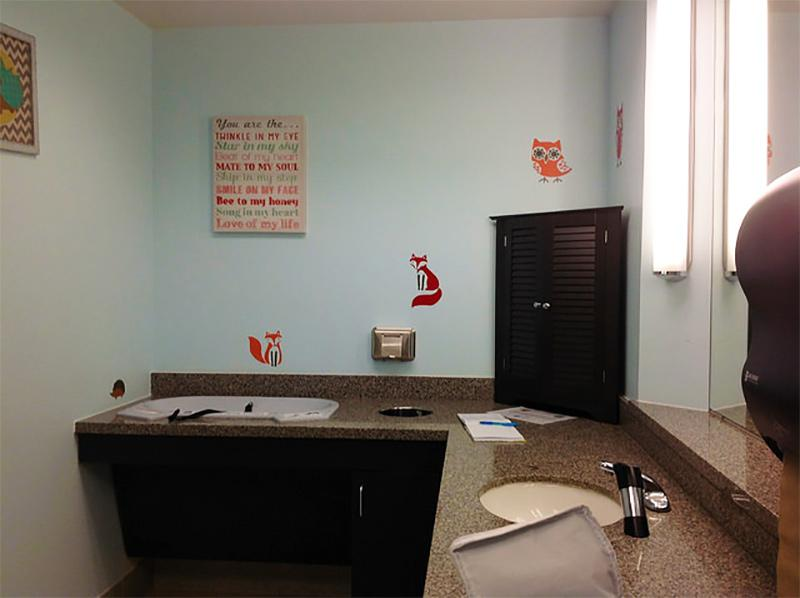 Photo of airport nursing room from the airport lactation rooms locator