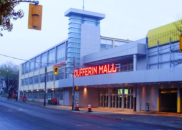 Photo of Dufferin Mall in Toronto, Ontario for nursing moms