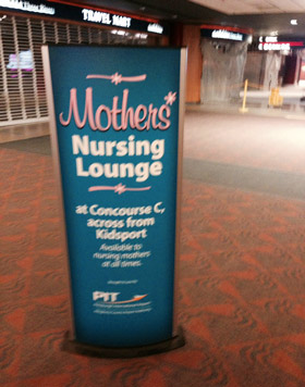 Mothers Nursing Room sign at Pittsburgh International Airport
