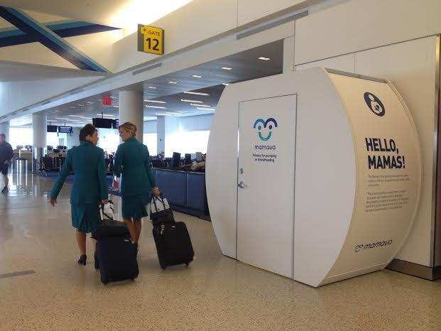JFK Airport lactation pod