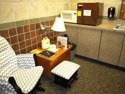 Photo Ohio University Bakers Center Lactation Room