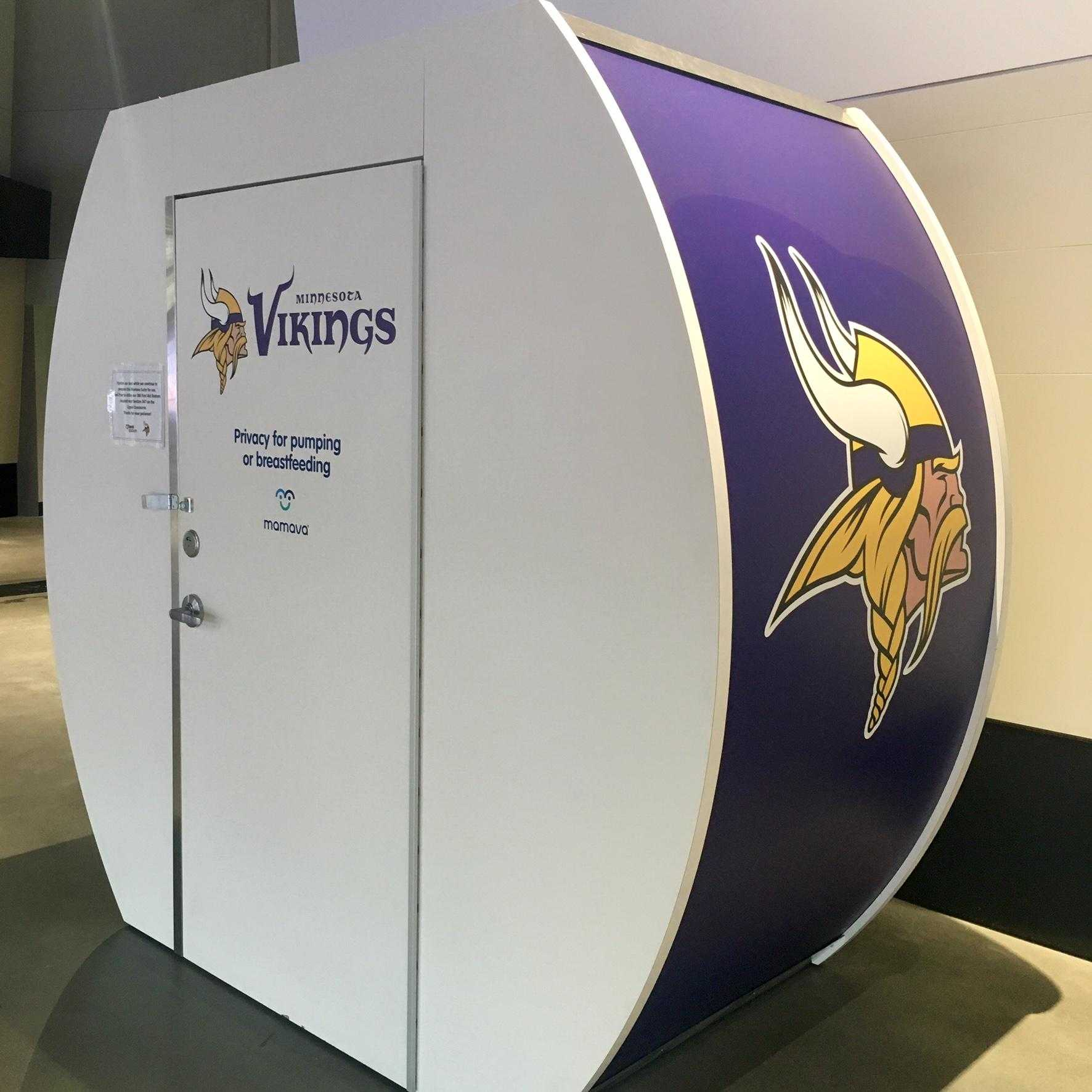 U.S. Bank Stadium Mamava lactation pod