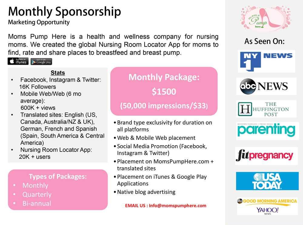 Monthly Sponsorship 2017