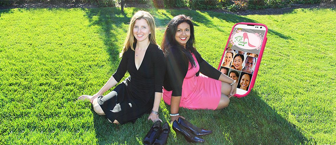 Moms Kim Harrison and Priya Nembhard, MomsPumpHere Founders
