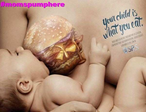 "Burger Breasts? Ad Campaign in Brazil Takes ""You Are What You Eat"" to a new level"