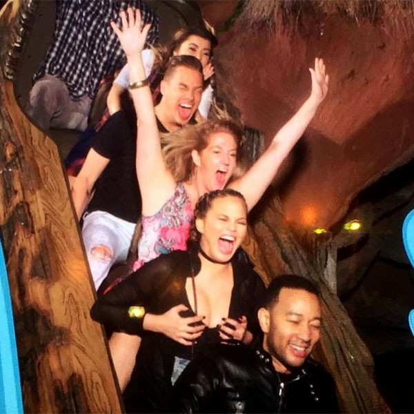 "Chrissy Teigen hits Splash Mountain, ""MY MILK"""