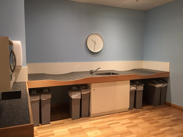 Photo of parents room sink and changing table in National Gallery of Victoria in melbourne