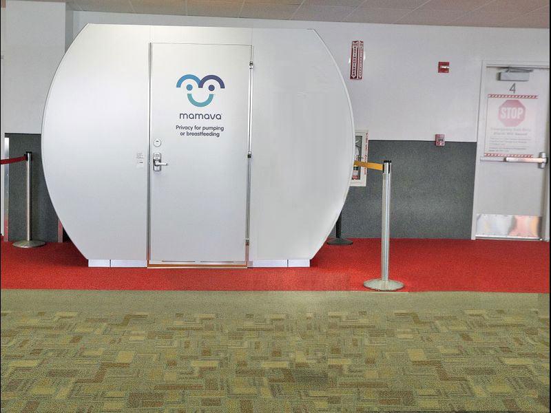 Photo of lactation pod at Bob Hope Airport.
