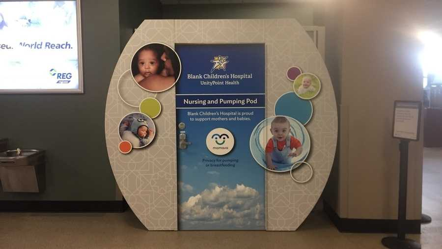 Photo of des moines international airport nursing pod pic2.
