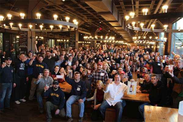 harpoon brewery boston massachusetts interior view staff and customers