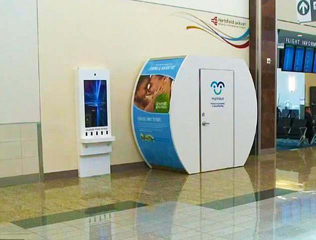 hartsfield jackson atlanta international airport breastfeeding nursing mothers lactation pod