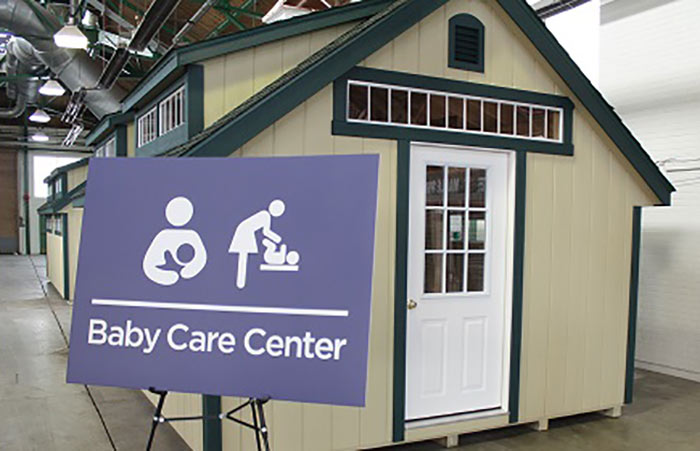 Photo of New York fairgrounds babycare center