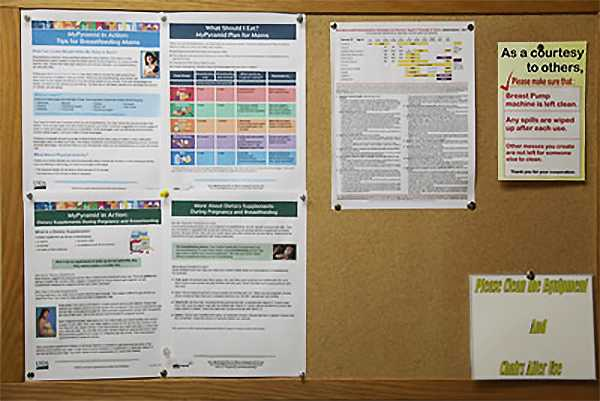 usda fsa charles f prevedel federal building breastfeeding nursing mothers lactation room bulletin board